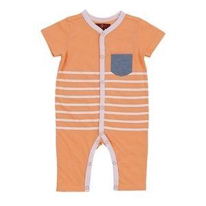 NEW 7 For All Mankind Orange Bodysuit One Piece